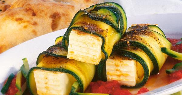 Käse-Zucchini-Päckchen