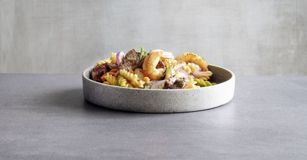 One Pot Pasta Surf & Turf
