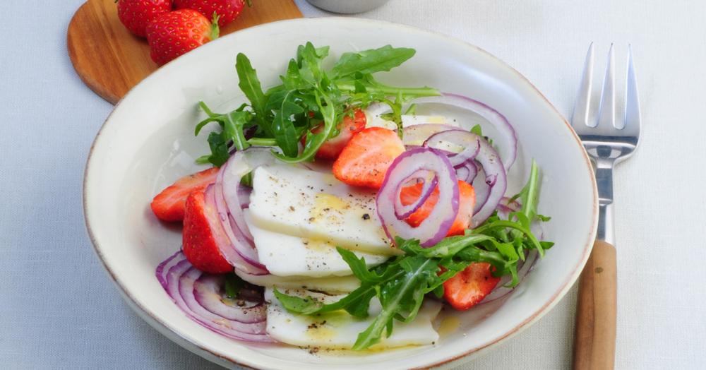 rezept f r rucola erdbeer salat k cheng tter. Black Bedroom Furniture Sets. Home Design Ideas