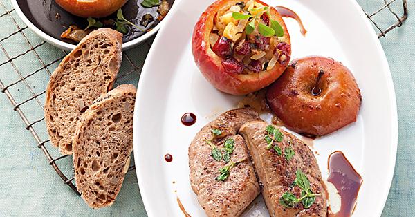 Kalbsleber mit pikant gefülltem Bratapfel