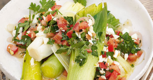 Lauch mit eier tomaten vinaigrette rezept k cheng tter - Eier kochen dauer ...