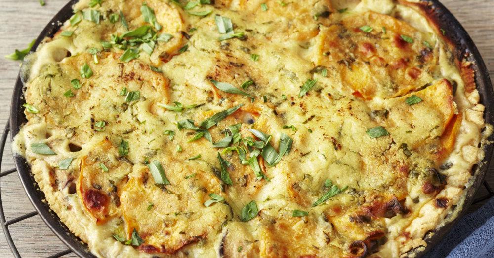 Vegane Süßkartoffel-Pilz-Quiche