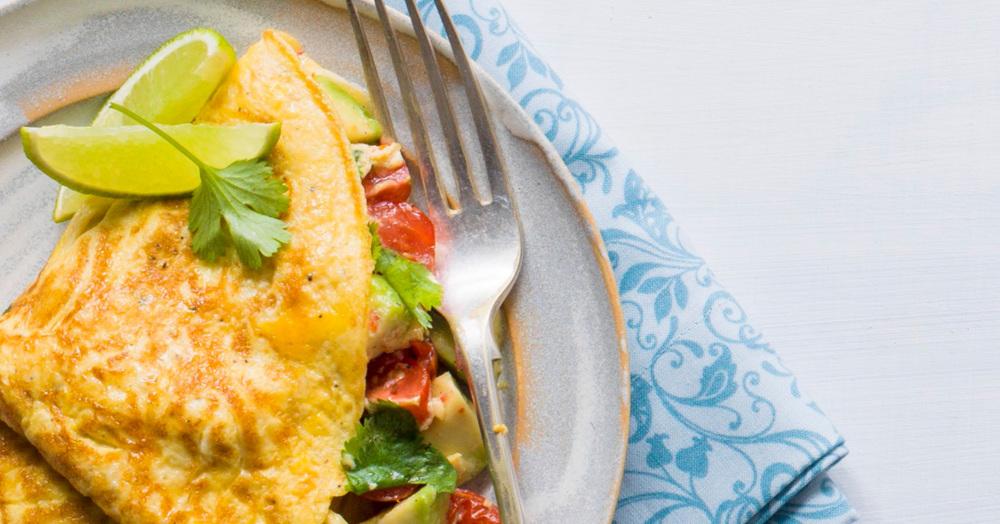 Omelett mit Avocado