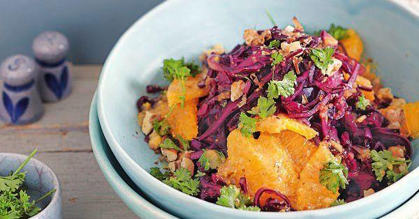 veganer rotkohl orangen salat rezept k cheng tter. Black Bedroom Furniture Sets. Home Design Ideas