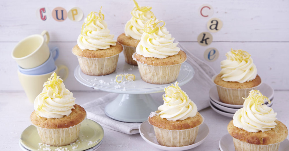 lemon curd cupcakes rezept k cheng tter. Black Bedroom Furniture Sets. Home Design Ideas