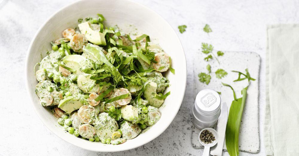 Kartoffelsalat mit Bärlauchdressing