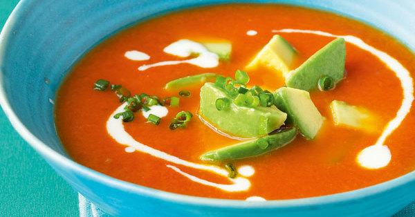 tomaten chili suppe mit avocado rezept k cheng tter. Black Bedroom Furniture Sets. Home Design Ideas
