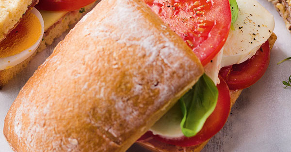 Tomaten-Mozzarella-Sandwich Rezept (glutenfrei)