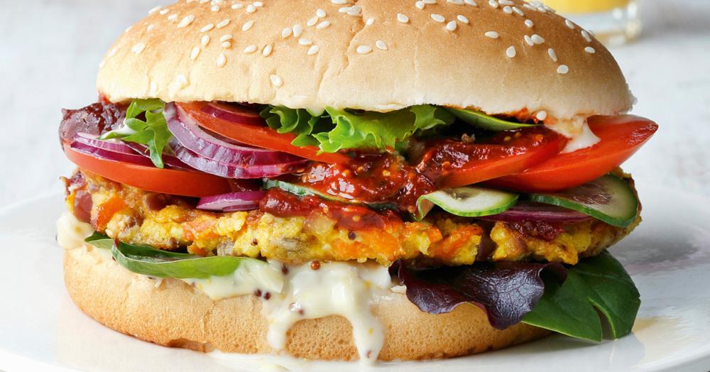 feta hirse burger rezept k cheng tter. Black Bedroom Furniture Sets. Home Design Ideas