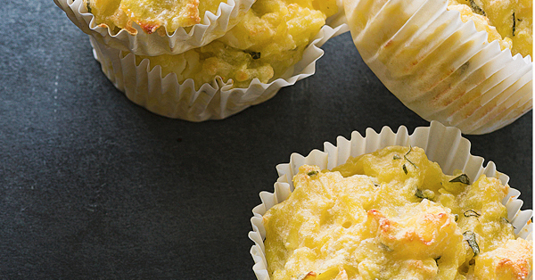 Kartoffelmuffins mit Feta