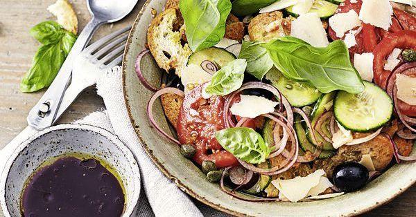 schnelle gem se brotchips salat rezept k cheng tter. Black Bedroom Furniture Sets. Home Design Ideas