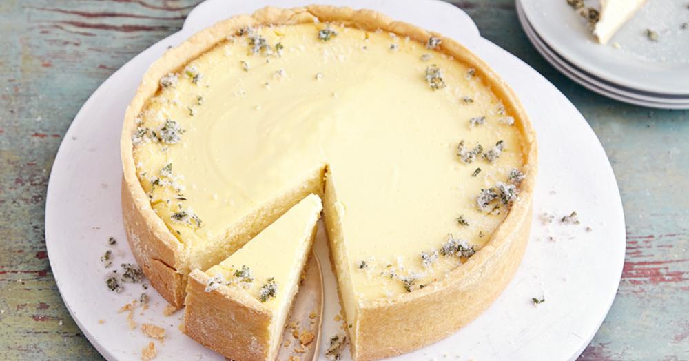 Hugo-Cheesecake mit Himbeeren