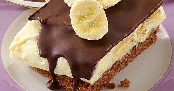 Bananen pudding torten