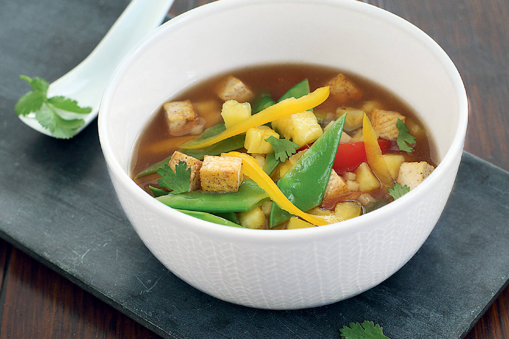 17+ Vegane sauer scharfe Suppe mit Tofu Fotografie