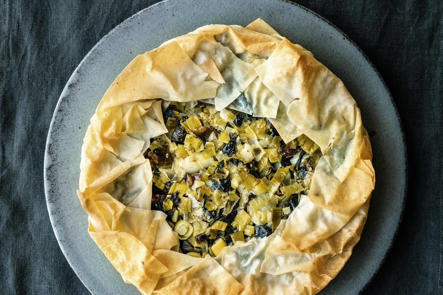 Filo Pie mit Spinat