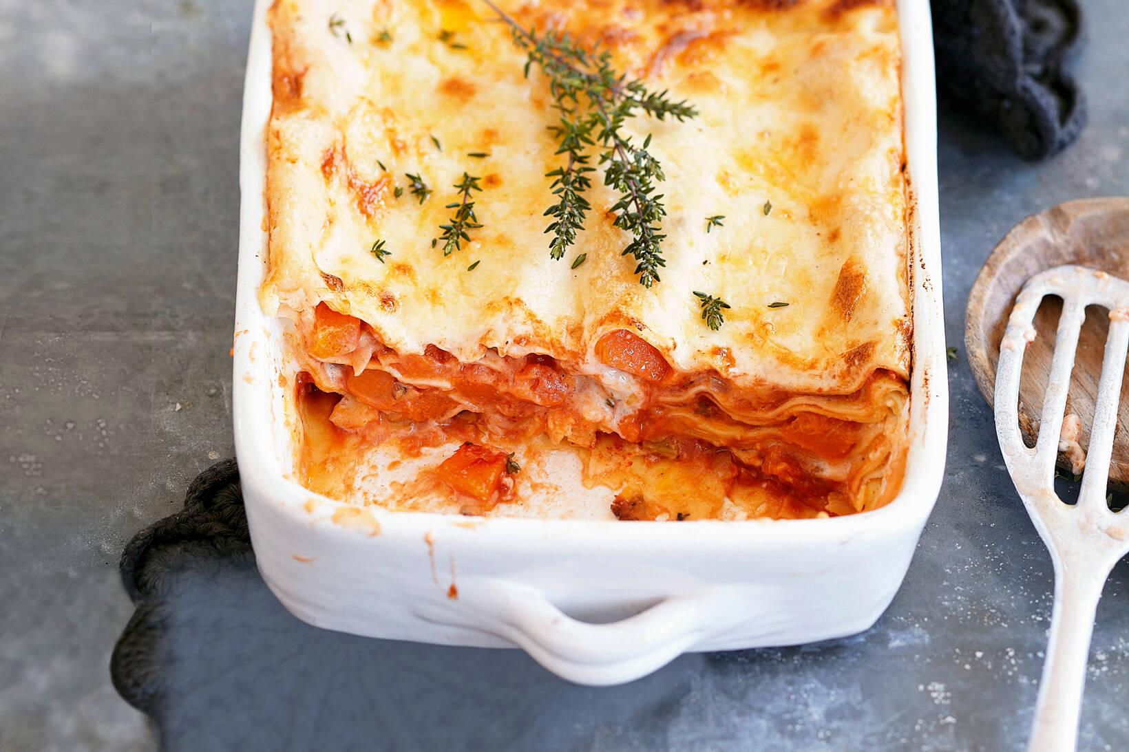 Kürbis Lasagne