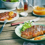 Rumpsteaks mit Chili-Salsa