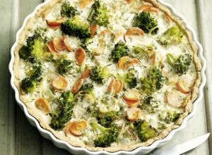 Vegetarische Brokkoli-Quiche