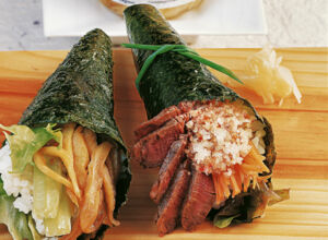 Temaki mit Steak