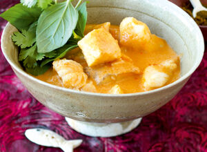 Rotes Thai-Fischcurry
