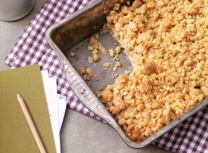 Apple Crumble mit Zimt