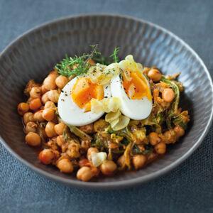 Kichererbsen mit knoblaucheiern rezept k cheng tter - Eier kochen ohne anstechen ...