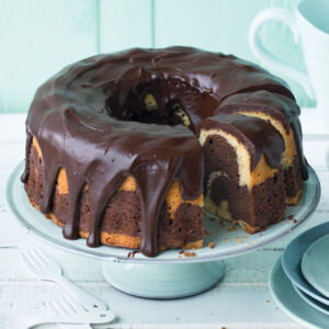 Marmorkuchen Mit Cremigem Schokoguss Rezept Küchengötter