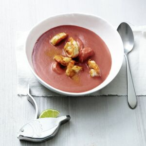 Rote-Bete-Mango-Suppe
