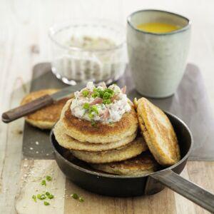 hafer pancakes mit schinkencreme rezept low carb k cheng tter. Black Bedroom Furniture Sets. Home Design Ideas