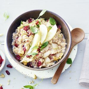 Birnen-Cranberry-Porridge