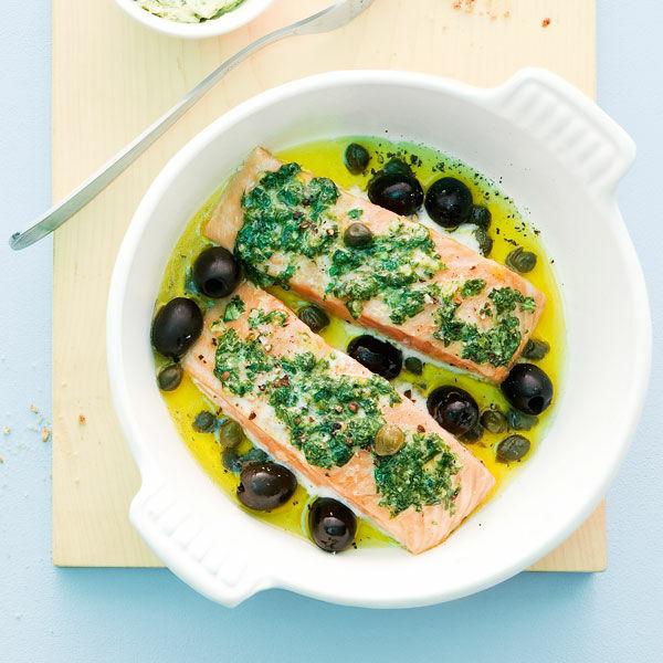 Ofenfisch Mit Basilikumbutter Rezept Küchengötter