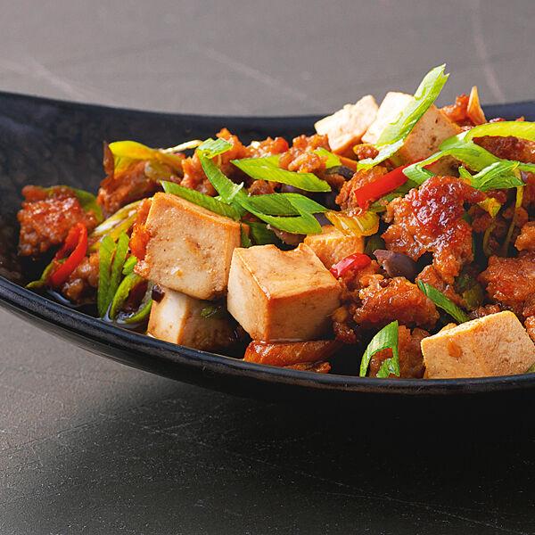tofu mit schwarzen bohnen und hack rezept k cheng tter. Black Bedroom Furniture Sets. Home Design Ideas