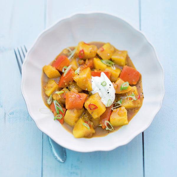 Kartoffel Kürbis Curry Rezept Küchengötter