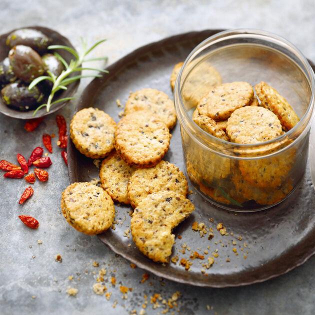 Chili-Oliven-Cracker Rezept | Küchengötter
