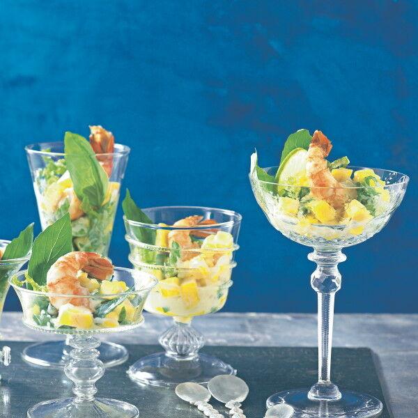 Garnelen-Mango-Cocktail mit Kokosmilch-Dressing Rezept | Küchengötter