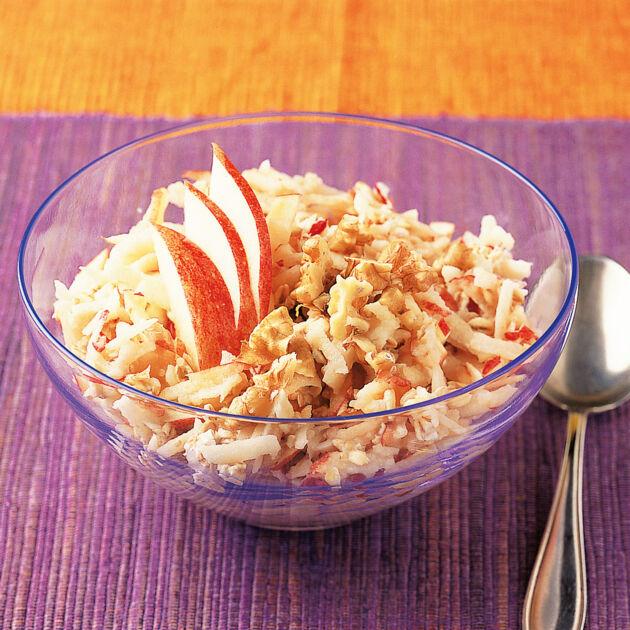 Bircher Müsli mit Vollkornhaferflocken Rezept | Küchengötter
