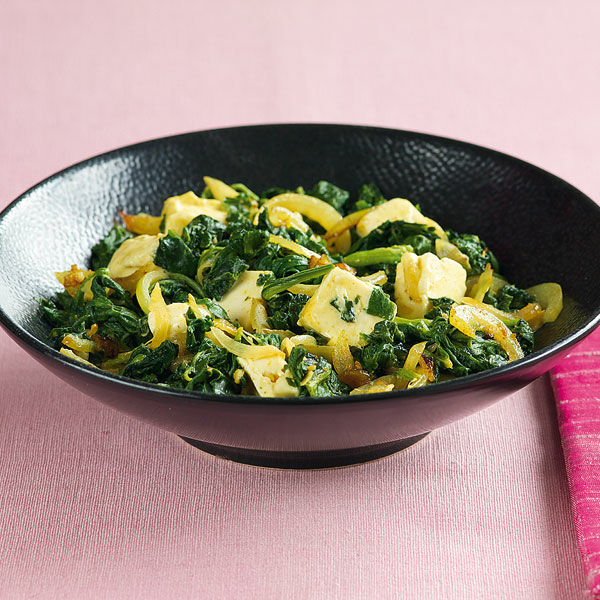 Asiatischer Spinat mit Käse Rezept | Küchengötter