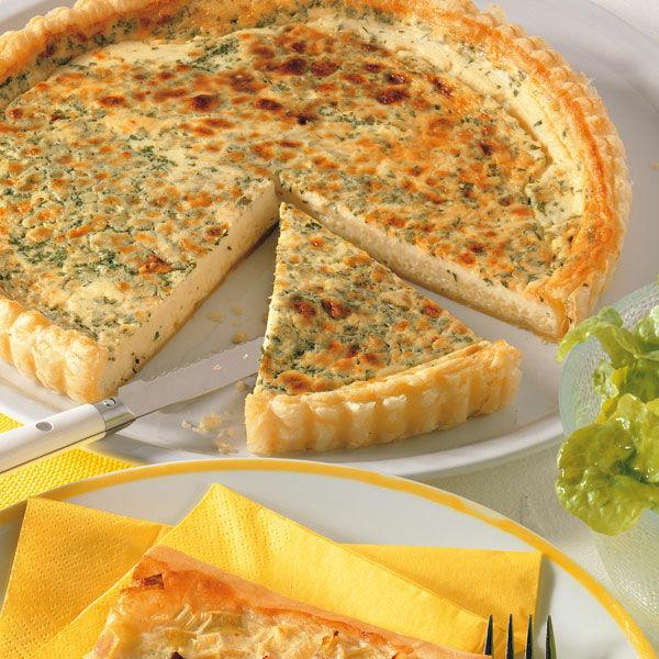 Blätterteigquiche Mit Käse Rezept Küchengötter