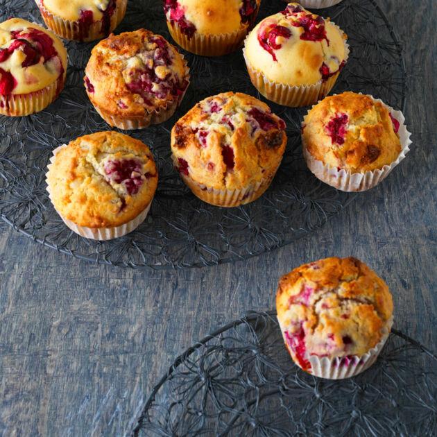 Rezept vanille himbeer muffins