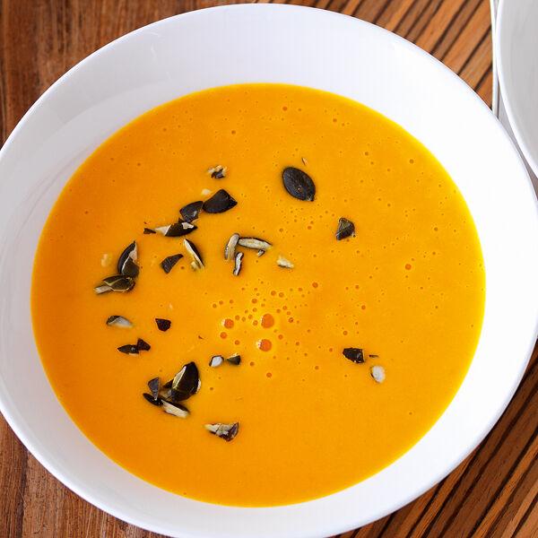Kürbis kartoffel möhren suppe
