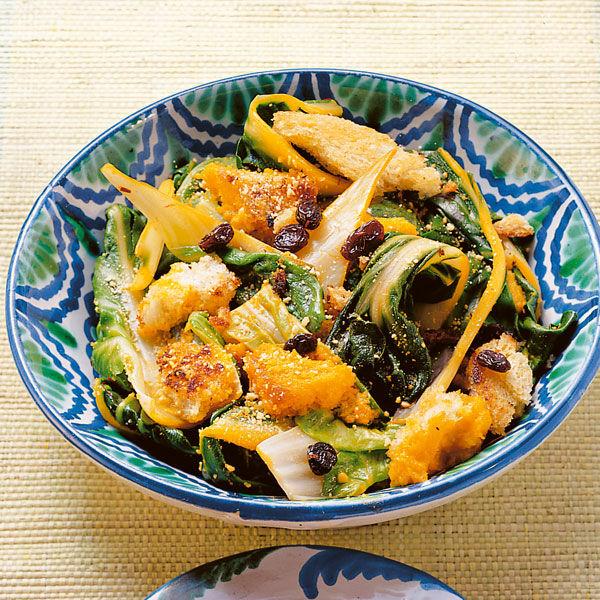 Mangold Mit Rosinen Und Mandeln Rezept Küchengötter