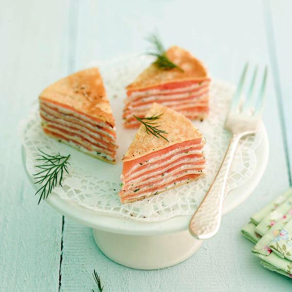 Raucherlachs Crepes Torte Rezept Kuchengotter