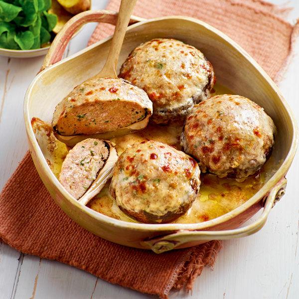 gefüllte champignons mit hackfleisch