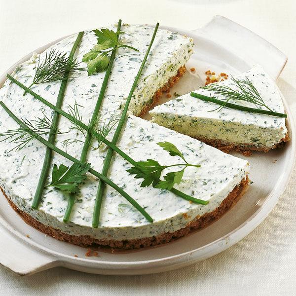 frischkäse torte mit kräutern rezept küchengötter