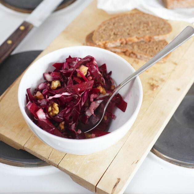 rote bete radicchio salat rezept k cheng tter. Black Bedroom Furniture Sets. Home Design Ideas