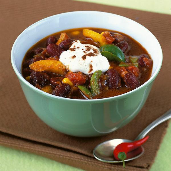 Vegetarisches Chili Rezept Küchengötter