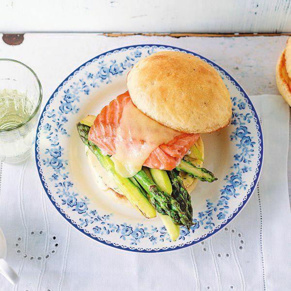 Spargel Lachs Burger Rezept Küchengötter
