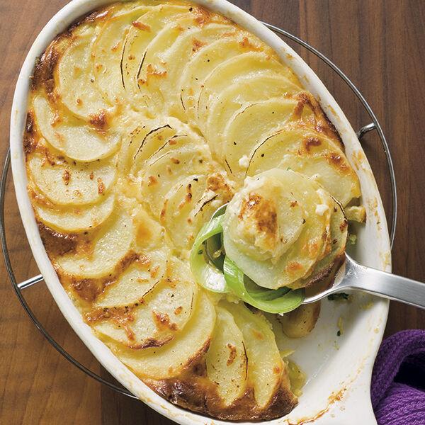 Kartoffel Lauch Gratin Rezept Küchengötter