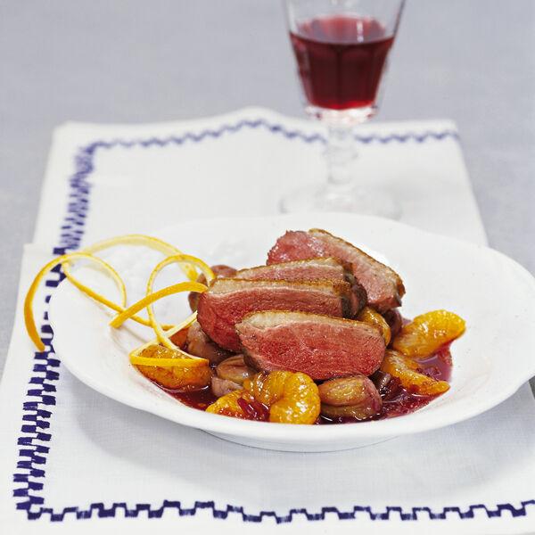 Entenbrust Auf Maronen Mandarinen Sauce Rezept Küchengötter