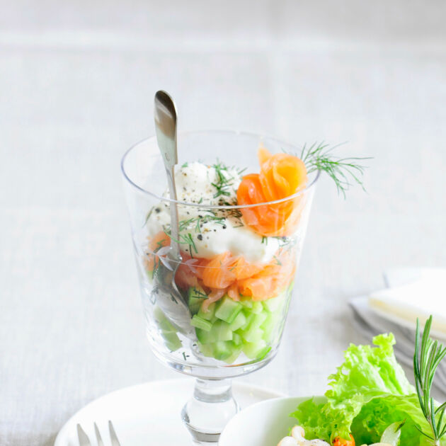 Räucherlachs Gurken Salat Rezept Küchengötter